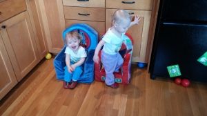 Girls moving new chairs March 2015