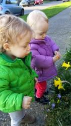 Girls & tulips