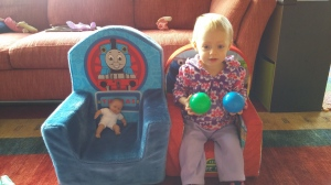 Kat in new chair March 2015