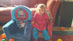 Tash in new chair March 2015